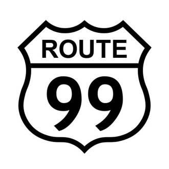 Route 99 - Most Dangerous Highway Sign
