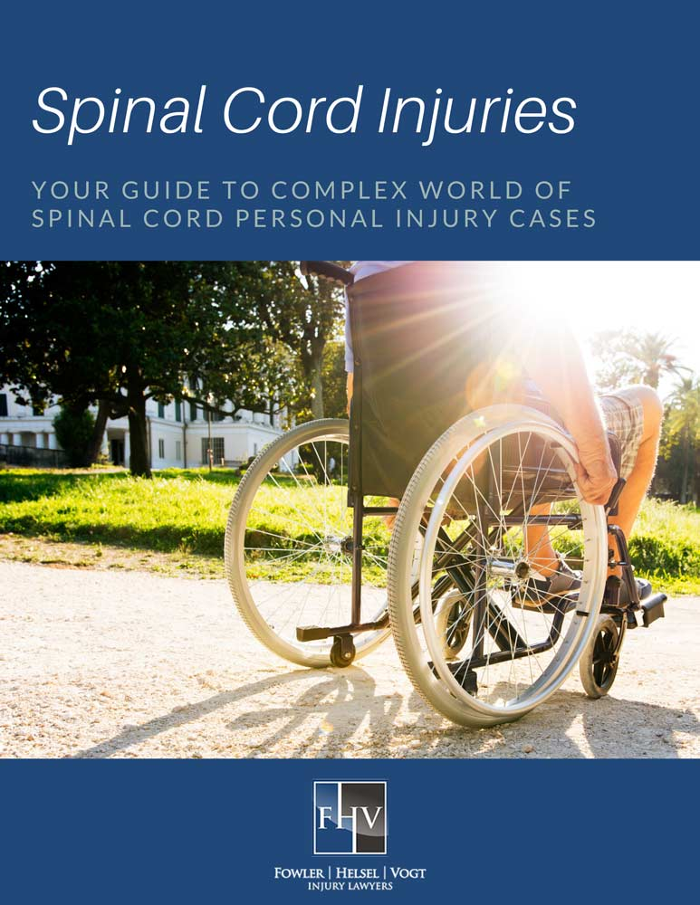 Cover image of the guide to spinal cord injuries